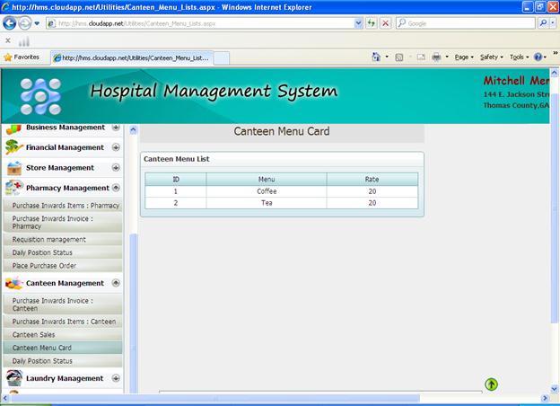 Hospital management system (HMS) - Hospital Administration