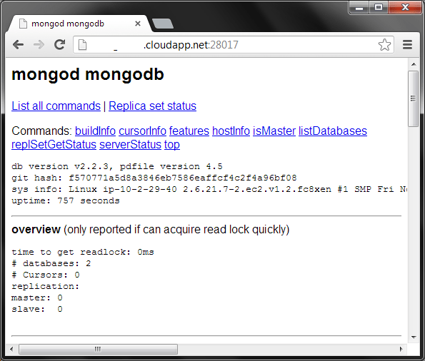 MongoDB on Azure